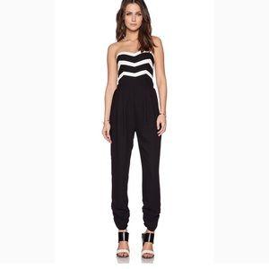 Parker black and White jumpsuit